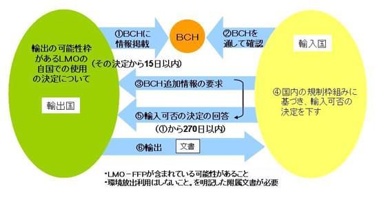 図2「食料、飼料、加工用として利用されるLMO」に対して適用される手続き