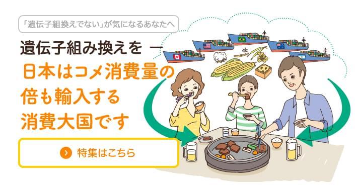 遺伝子組み換えは日本はコメ消費量の倍も輸入する消費大国です