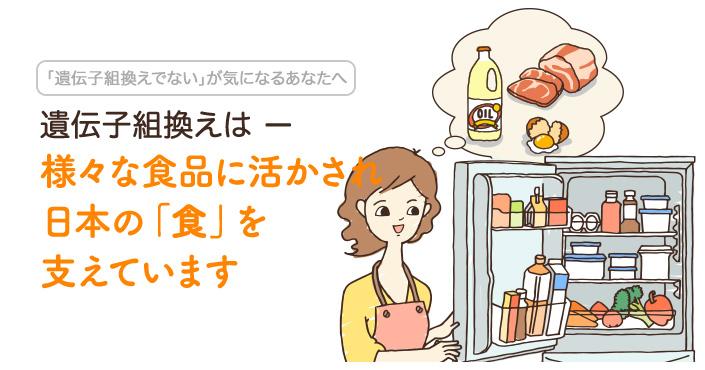様々な食品に活かされ日本の「食」を支えています